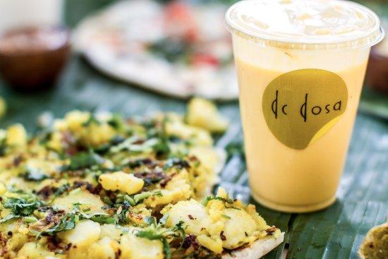 Bethesda, MD: A perfect pair of dosa and our delicious mango-ginger lassi