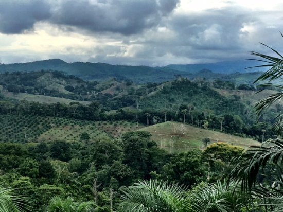 Santiago de Puriscal, Costa Rica: the view on the way to La Iguana Chocolate Farm