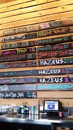 Broomfield, CO: Some of the current beers on tap