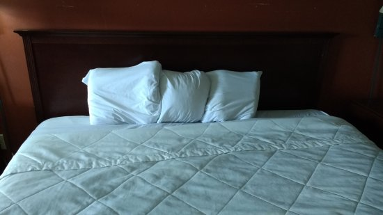 LaFayette, GA: The king-sized bed had three tiny pillows!