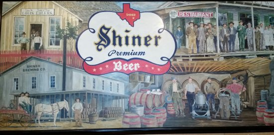 Shiner, TX: Painting on wall inside visitor center.