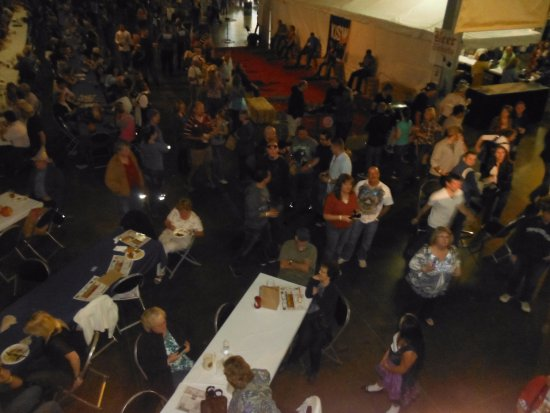 Puyallup, WA: view from the swing in the rafters. Oktoberfest NW