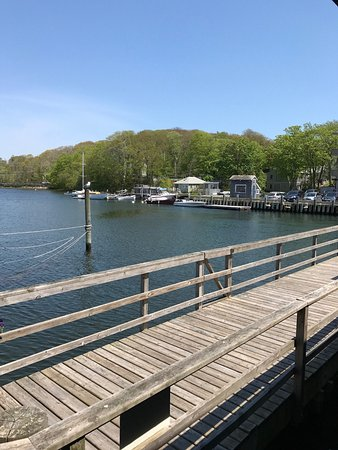 Woods Hole, MA: View from our table