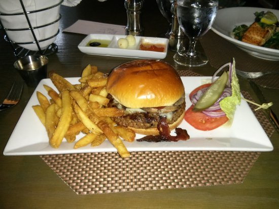 Bistro 72: Bistro Burger with bacon, cheese, mushrooms and more