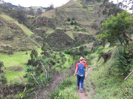 Isinlivi, Ecuador: day hike from the hostal