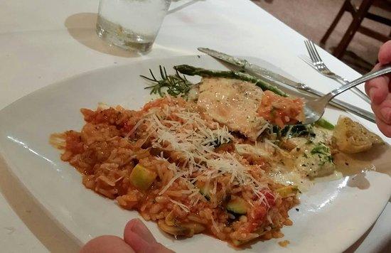 Gennaro's Trattoria: Risotto, chicken stuffed w/spinich