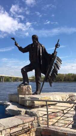 On the banks of the Mississippi River at the National Eagle Center, Wabasha MN
