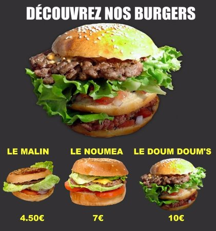 Carte Burger King Noumea.Snack Le Noumea Place Paul Jourdan 13600 La Ciotat Livraison