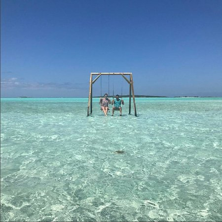 Coco Plum Beach Honeymoon Vibes On The Swings In Exuma