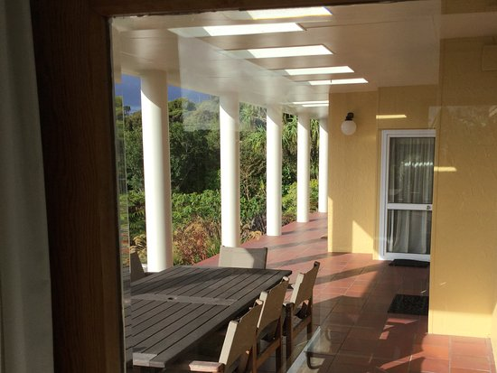 Stewart Island, New Zealand: View of the terrace