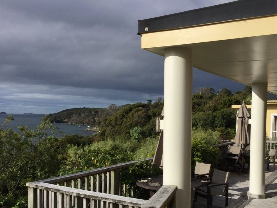 Stewart Island, New Zealand: View from the terrace