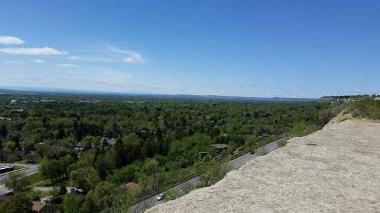 Billings, MT: View looking West from Rims overlooking MSUB
