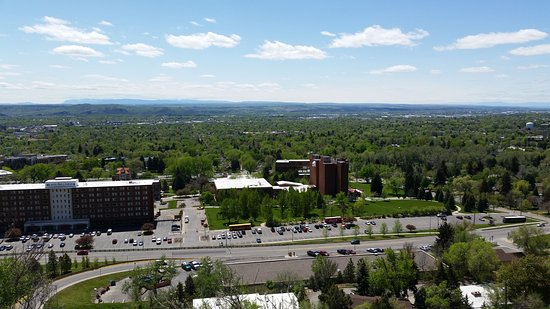 Billings, MT: View looking South from Rims overlooking MSUB