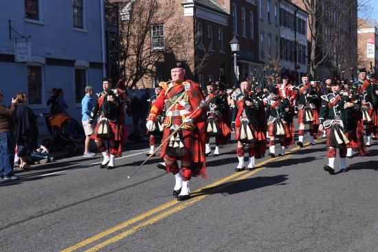Old Town: Locals dress and march in their parades