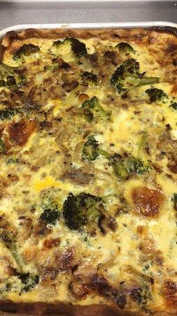 Ulverston, UK: Homemade Quiches - Broccoli and Stilton