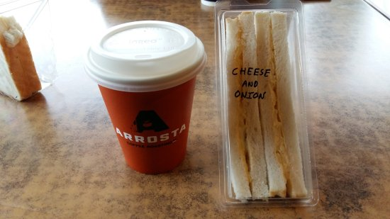 Hunterville, Neuseeland: Cheese and Onion Sandwitch