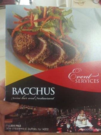 Bacchus Wine Bar & Restaurant: 店内にあったパンフレット