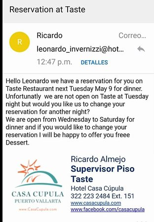 Taste Restaurant at Casa Cupula: Screenshot_20170518-212957_large.jpg