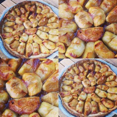 Tarte Aux Pommes Fuji Caramelisees Sur Pate Feuilletee Maison