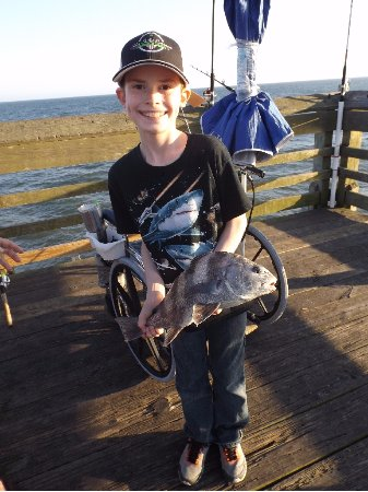 Holden Beach, NC: Nice Black Drum rounded out a very successful day fishing!