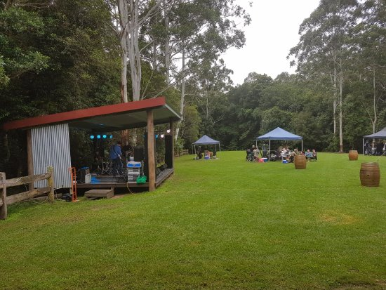 Wootton, Australia: The band playing in the BACK PADDOCK MUSIC in May 2017