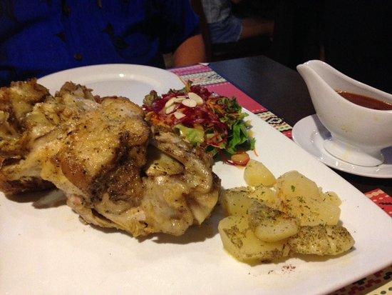 Vintage Bulgaria Restaurant & Bar : The much awaited Roast Pork Knuckle!!!