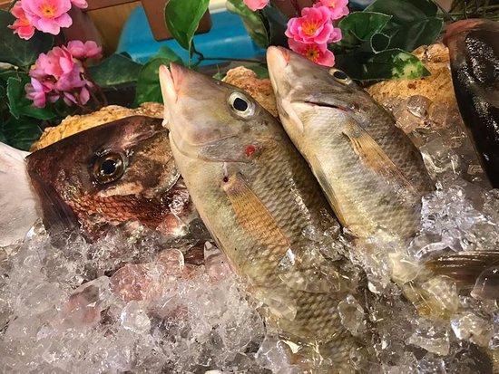 Kadena-cho, Japan: 鮮魚が揃っています。