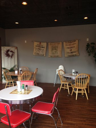 Bloomer, WI: Part of one of two dining areas. There is also outside dining