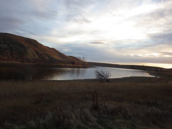 Shelby, Montana: Lake Shel-oole, from the trail