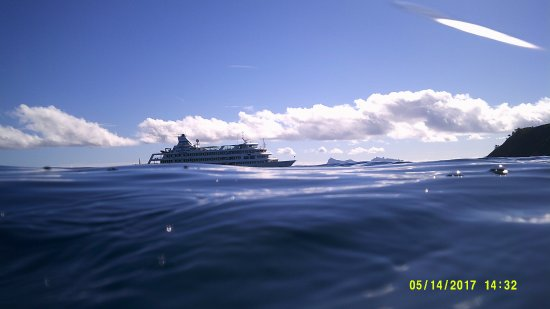 Captain Cook Cruises - Fiji Day & Dinner Cruises : View from snorkeling site