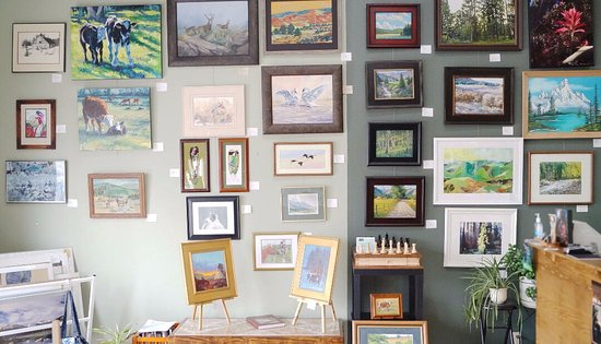 Sheridan, WY: Just one of the walls of art.  Such a wide variety.