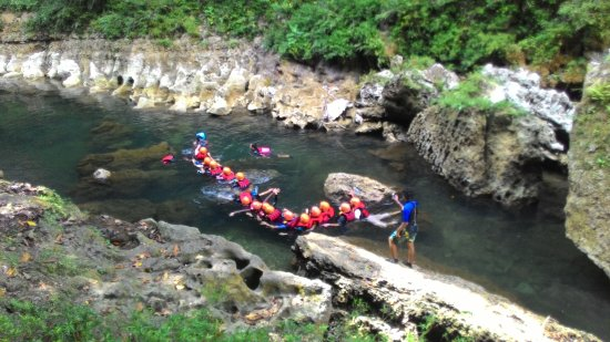 West Java, Indonesia: body rafting