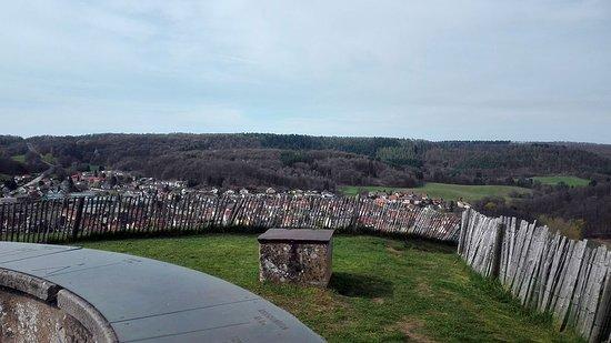 Citadel of Bitche : Aussicht vom höchsten Punkt der Zitadelle