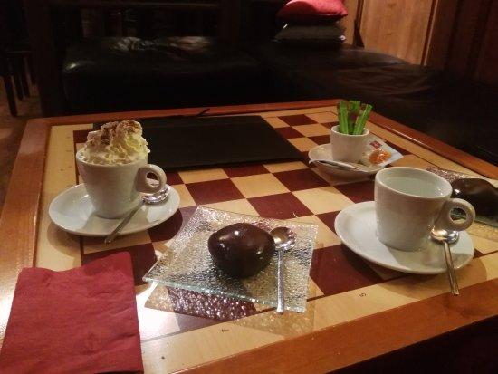 Le B'art : Chocolat viennois et galets chocolat et coeur noisette