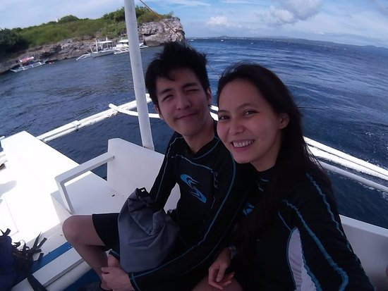 Pescador island at the back