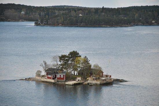 Stockholm, Sverige: Fiordo che porta al porto di Stoccolma