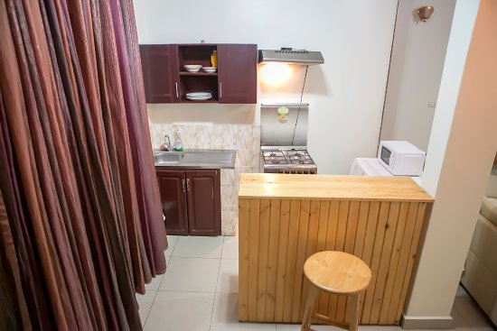 mini bar and kitchen of 2 bedrooms apartment - Picture of St ...