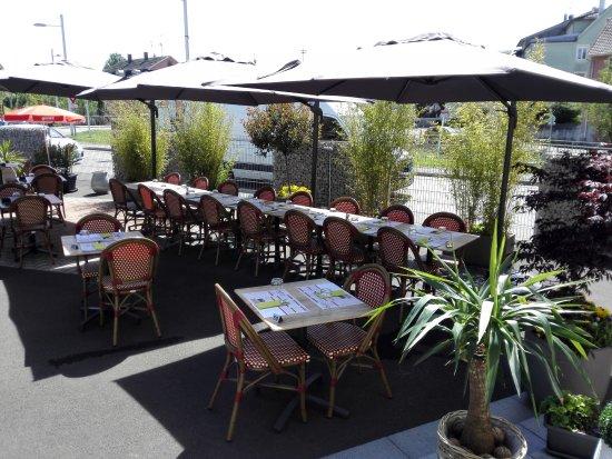 L 39 entr e du restaurant photo de le bistr 39 o restaurant for Restaurant altkirch