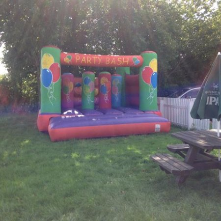 Cossall, UK: Our very own bouncy castle