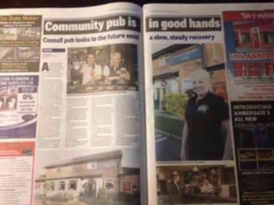 Cossall, UK: Local press coverage