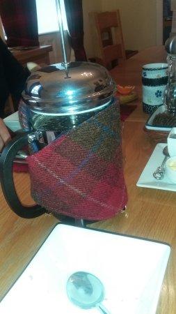 Newtonmore, UK: coffee-warming Tweed :)