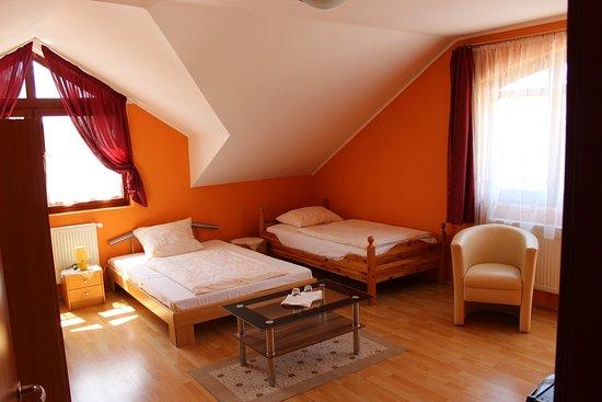 Harkany, Ungheria: Vendégházunk szobája.