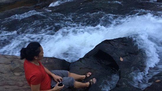Mawanella, Sri Lanka: top of the water fall