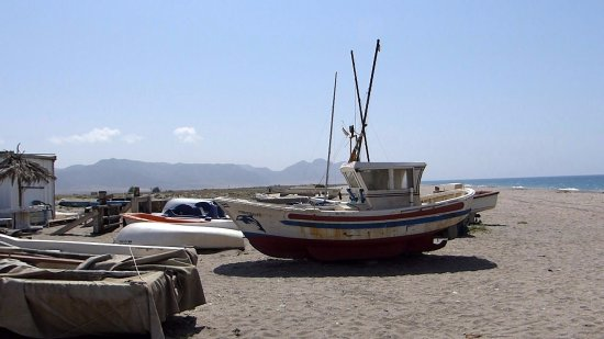 Cabo de Gata, Spanien: Old Fishing Boat