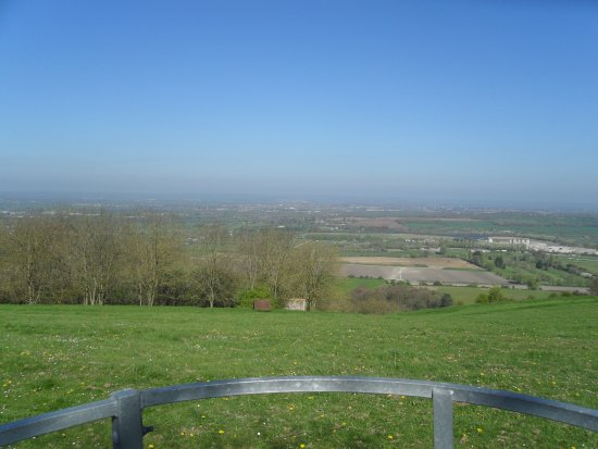 Westbury, UK: Views from the hill