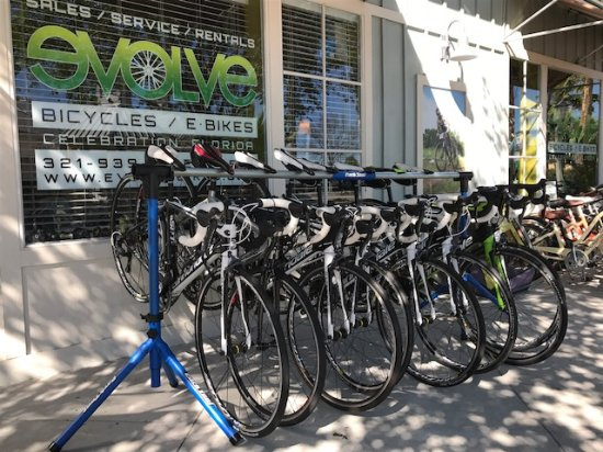 Celebration, FL: A few bikes from our carbon road bike fleet
