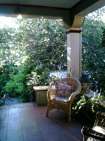 South Pasadena, CA: The shady verandah running along the front of the house