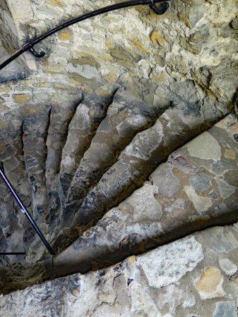 Rochester Castle: A spiral staircase