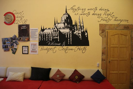 Budapest Centrum Hostel: Common room