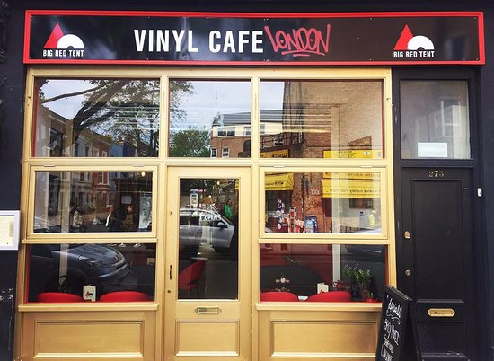 Big Red Tent Vinyl Cafe London Notting Hill